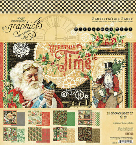 8 x 8 Paper Pad 4502118 Graphic 45 Christmas Time Collection