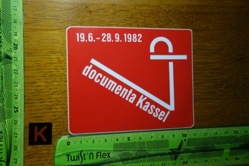 Alter Aufkleber Stadt Stadtfest Messe Ausstellung DOCUMENTA 1982 KASSEL