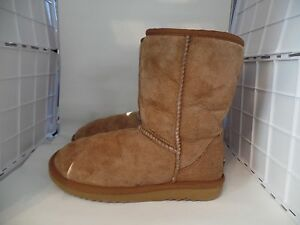 Details about Vintage Ugg Australia Womens 5 Classic Short Chestnut  Shearling Ankle Boots