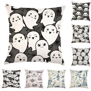 Am-CO-Halloween-Spider-Ghost-Cat-Linen-Throw-Pillow-Case-Cushion-Cover-Home-De
