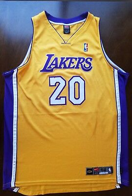 size 40 8a09b 47f5b Los Angeles Lakers Gary Payton NIKE Authentic SZ 52 Vintage Jersey On Court  NBA | eBay