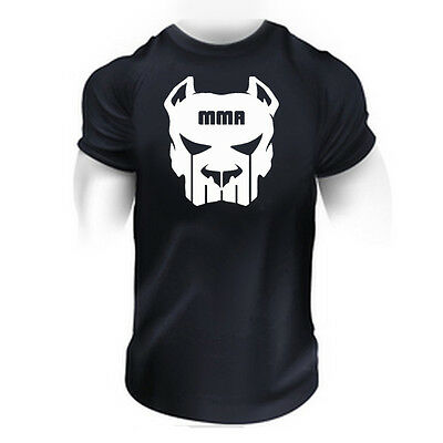 MMA FIGHTING GYM BODYBUILDING   T-Shirt  BEST WORKOUT  CLOTHING TRAINING MAN