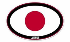 "Japan Flag Oval car window bumper sticker decal 5"" x 3"""