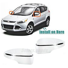 Accessories Chrome Door Side Light Mirror Covers For 2013-2017 Ford Escape