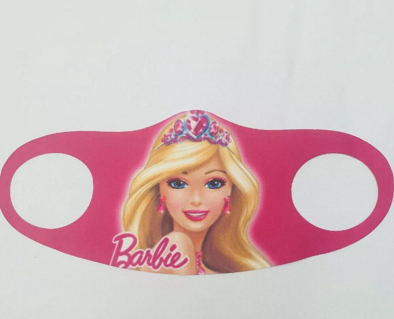 Kids Unisex Reusable Pink Barbie Face Mask Covering