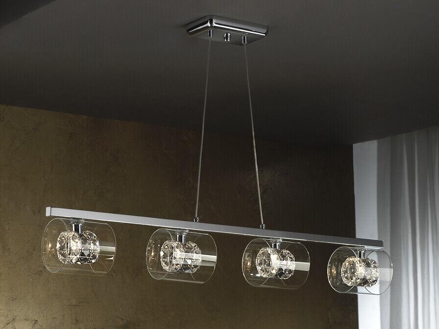 Deckenlampe Deckenleuchte Glas Designerlampe modern chrom luxus LEDs FLASH