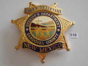 Police badge Sheriff Department New Mexico Chief Detective Sandoval County /Göde