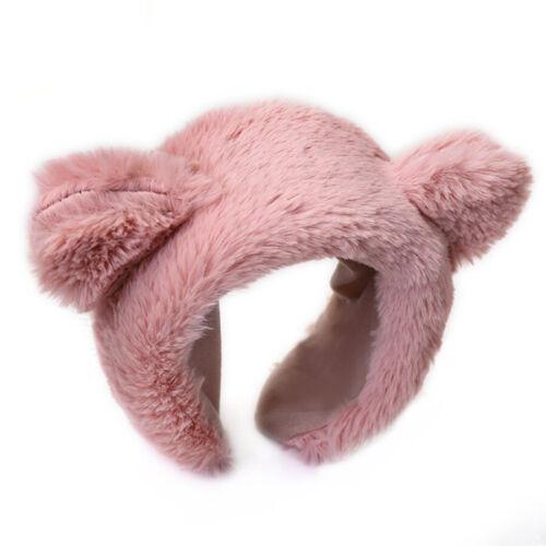 Women Lady Plush Headband Hairband Winter Hair Band Hoop Accessories Soft Party