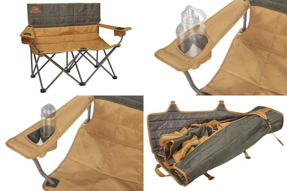 Bröd Camping Beach Outdoor med Foding Double Chair med Justerbar Armbrest Ny