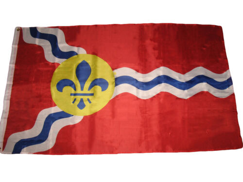 3x5 st Louis Flagge 0.9mx5 /' City Of Saint Louis Missouri Banner Ösen Premium