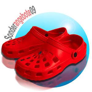 Clogs Hausschuh Gartenschuh 37 38 39 40 41 42 Damenschuhe ROT Schuhe SANDALEN
