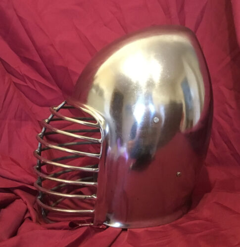 Superior Bar Grill Bascinet Helm for SCA Heavy Combat Knight Helmet w// CHINSTRAP