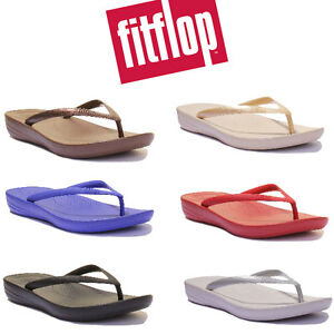 0ea5a44fba82 Image is loading Fitflop-IQUSHION-Comfort-Women-Rubber-Flip-Flops-Size-