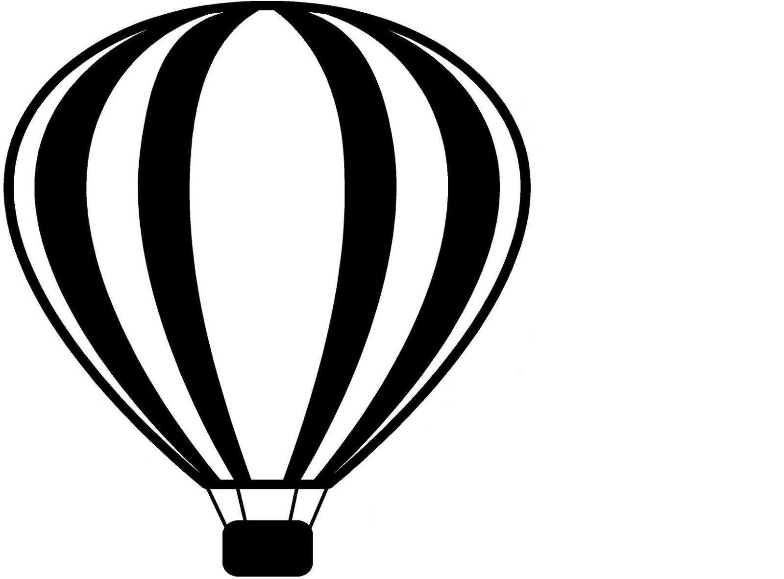Hot Air Balloon Car Auto Window Vinyl Decal Sticker 10151