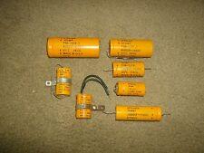 lot of (7) vintage SPRAGUE ATOM, etc. ELECTROLYTIC CAPACITORS