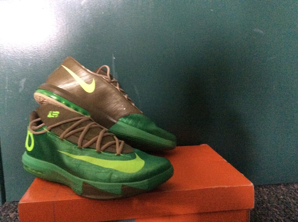 Nike Zoom KEVIN DURANT KD VI 6 BAMBOO GAMMA GREEN LIME LINEN UMBER  SIZE 13