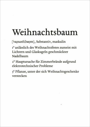 """Lexikarte /""""Weihnachtsbaum/"""""""