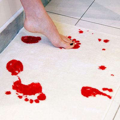 Blood Bath Mat Footprints Rugs Towel Bath Mat Bloody Horror Scary Halloween