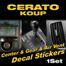 Auto Center Fascia Gear Air Vent Carbon Decals Sticker For KIA 10-13 Cerato Koup