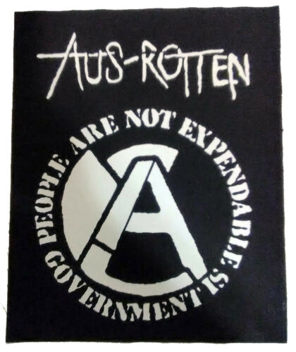 Aus-Rotten  Hardcore Anarcho Punk Behind Enemy Lines punk rock jacket BACK PATCH