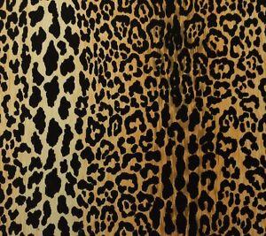 Ballard Designs Serengeti Camel Leopard Velvet Jamil