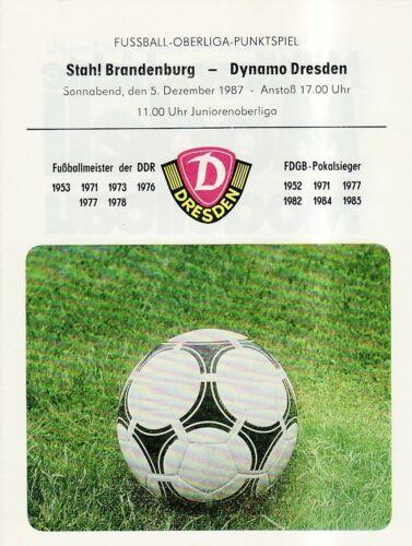 OL 87//88  SG Dynamo Dresden BSG Stahl Brandenburg