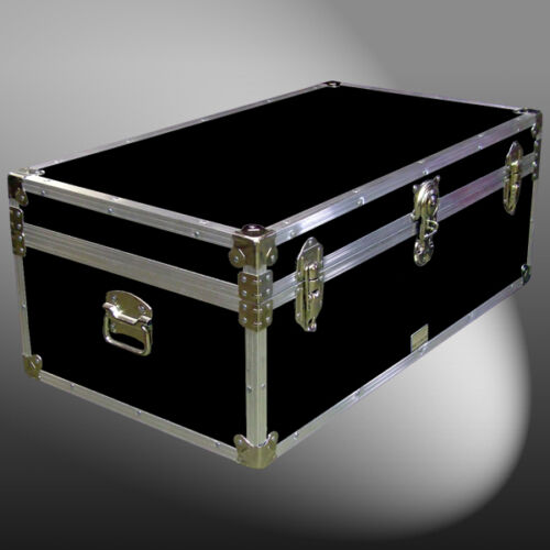 "36"" STORAGE BOXLUGGAGE BOARDING SCHOOL UNIVERSITY TRAVEL SHIPPING TRUNK CHEST"