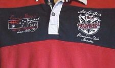 CAMP DAVID AUSTRALIA MELBOURNE GOLF CLUB 2-SIDED RUGBY STITCHED SS SHIRT XL RED