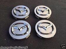 4 X MAZDA Wheel Caps 56MM Gray/Silver for Mazda 3, 5, 6,Miata,MX5, CX5, CX9, RX8