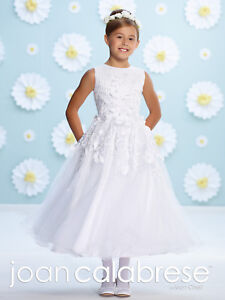 79e2ee62368a NEW Girl's Joan Calabrese FANCY White FIRST COMMUNION Dress Size 8 ...