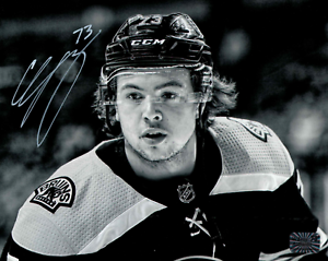 Charlie-McAvoy-Boston-Bruins-Signed-autographed-spotlight-up-close-16x20