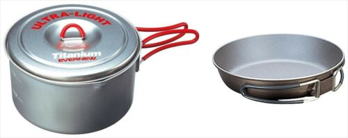 """EVERNEW Titanium Non-stick Frying pan 6.5/"""" /& Cooker Pot 1.3L fm Japan"""