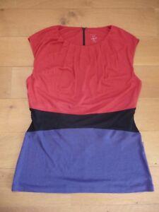 top-tunique-MARC-CAIN-rouge-noir-et-violet-T-N4-40-42-en-tres-bon-etat