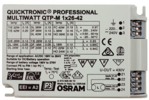 OSRAM EVG QTP-T//E D//E elektronisches Vorschaltgerät Dulux PL-T PC-C Lampe Birne