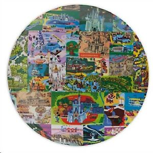 Disney Magic Kingdom Map Dessert Plate, NEW | eBay