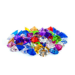 Mini Assorted Acrylic Crystal Diamond Gems vase fill Confetti Table Scatter 1 lb