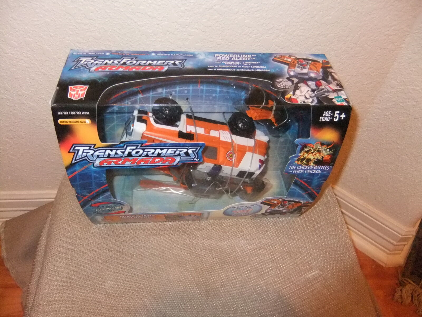 Transformers Voyager Class Armada Powerlinx red Alert+Mini-con+comic Book MISB