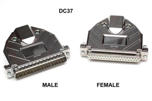 D-Sub Solder Connector /& Metalised Plastic Hood RS232 Serial 9 15 25 37 pins