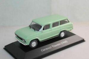 1-43-IXO-Chevrolet-Veraneio-1965-Light-Green-Models-Toys-Diecast-Collection-Car