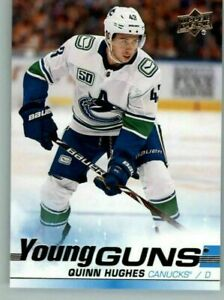2019-20 UD YG YOUNG GUNS SP Rookie YOU PICK FROM DROP DOWN LIST Quinn Hughes
