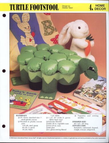 Turtle Footstool Annie/'s NEW Plastic Canvas Pattern//Instructions Leaflet