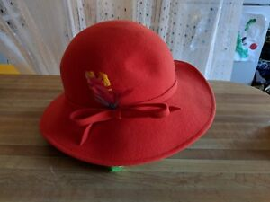 Image is loading Vintage-Red-Women-039-s-Hat-1920-039- 7ac4bd7cc1c