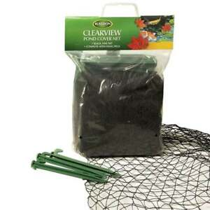 BLAGDON POND COVER NET CLEAR VIEW NETTING HERON CAT FOX LEAVES PROTECTOR BLACK
