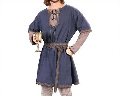Courtly Norman Tunic, S, M, L, XL, XXL, Belt included, Medieval, Norse, Viking,
