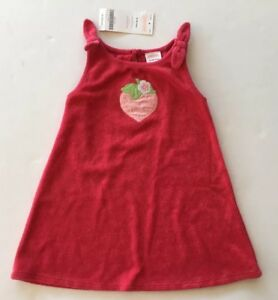 7c898ed31 Details about NWT Gymboree Little Strawberry Red Terry Dress 12-18