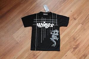 T-shirt-Kurzarm-Rundhals-mit-Motiv-128-Schwarz-65-Cotton-35-Polyester
