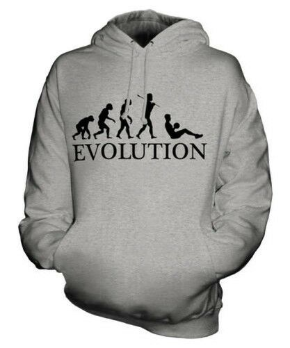 SIT UP (MALE) EVOLUTION OF MAN UNISEX HOODIE MENS WOMENS LADIES GIFT EXERCISE