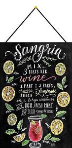 Sangria-Recipe-Tin-Sign-Shield-with-Cord-Metal-7-7-8x11-13-16in-FA0324-K