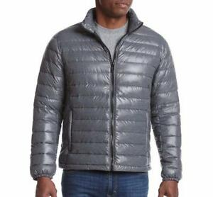 91a7896d4 Details about CALVIN KLEIN® Men's XL Dark Gray Packable Down Jacket NWT $195