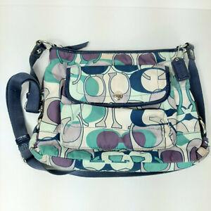 COACH-18839-Kyra-Daisy-Scarf-Nylon-Signature-Crossbody-Handbag-Shoulder-Purse
